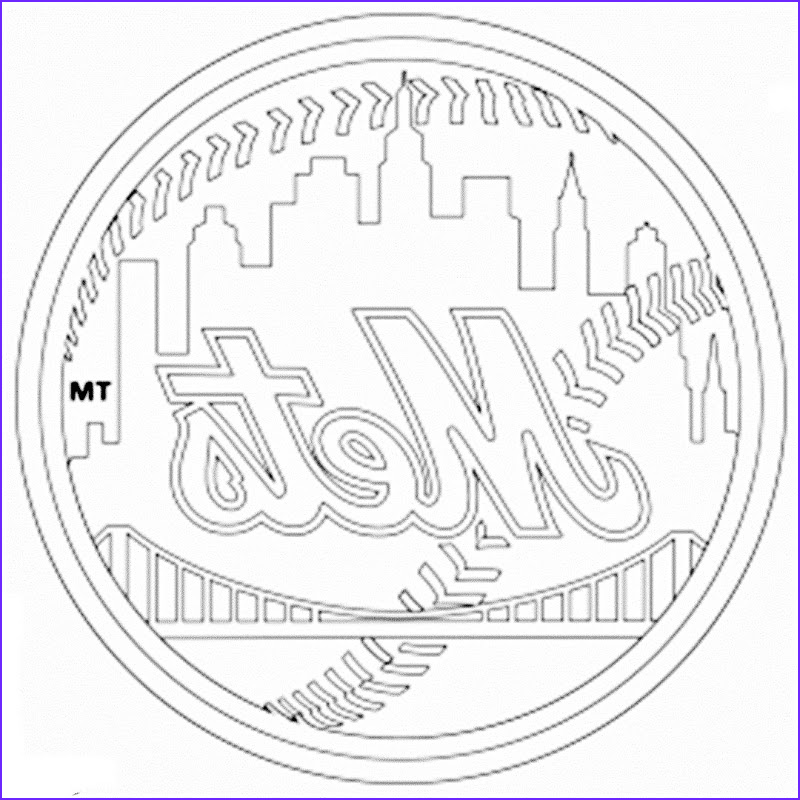 new york mets coloring pages