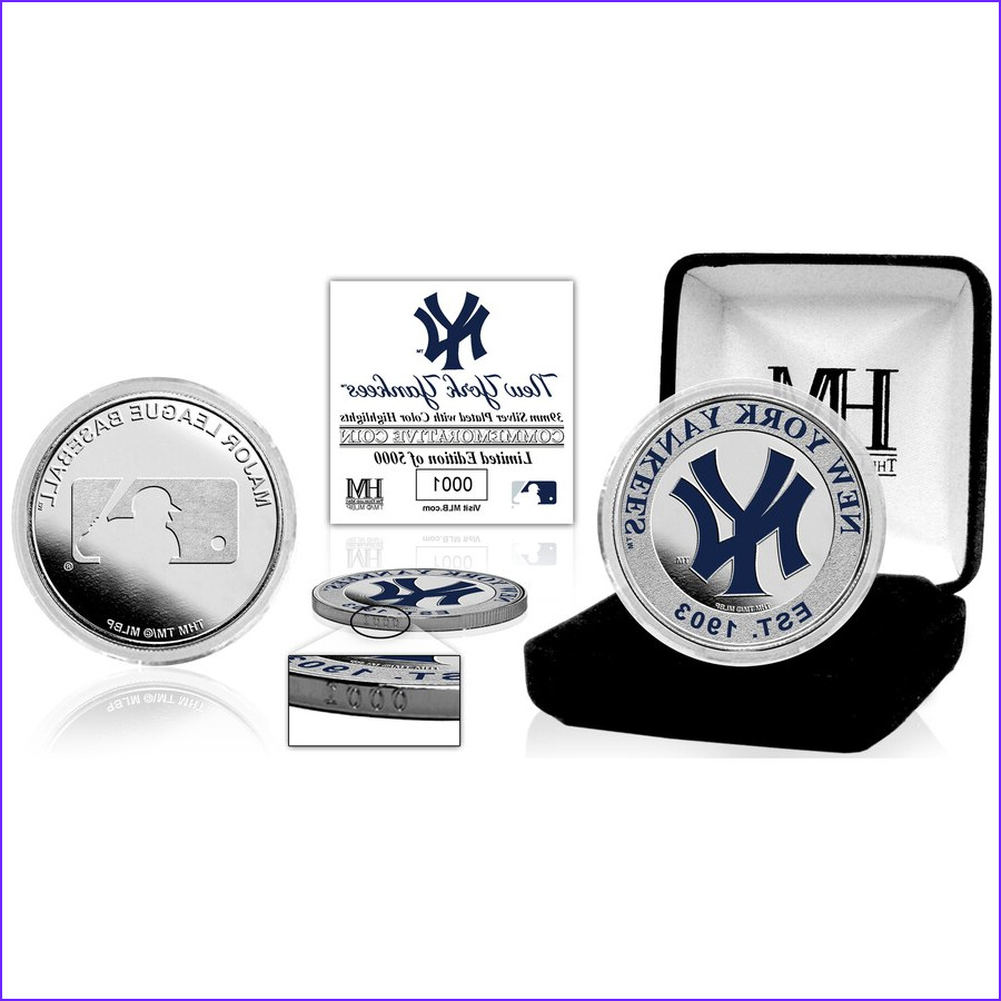 New York Yankees Coloring Beautiful Photos New York Yankees Highland Mint Silver Color Coin