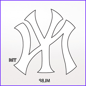 yankees logo coloring pages sketch templates