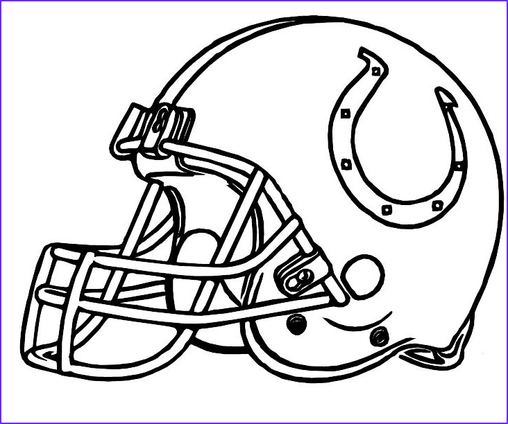 Nfl Helmets Coloring Pages Elegant Image Colts Indianapolis Helmet Coloring Pages