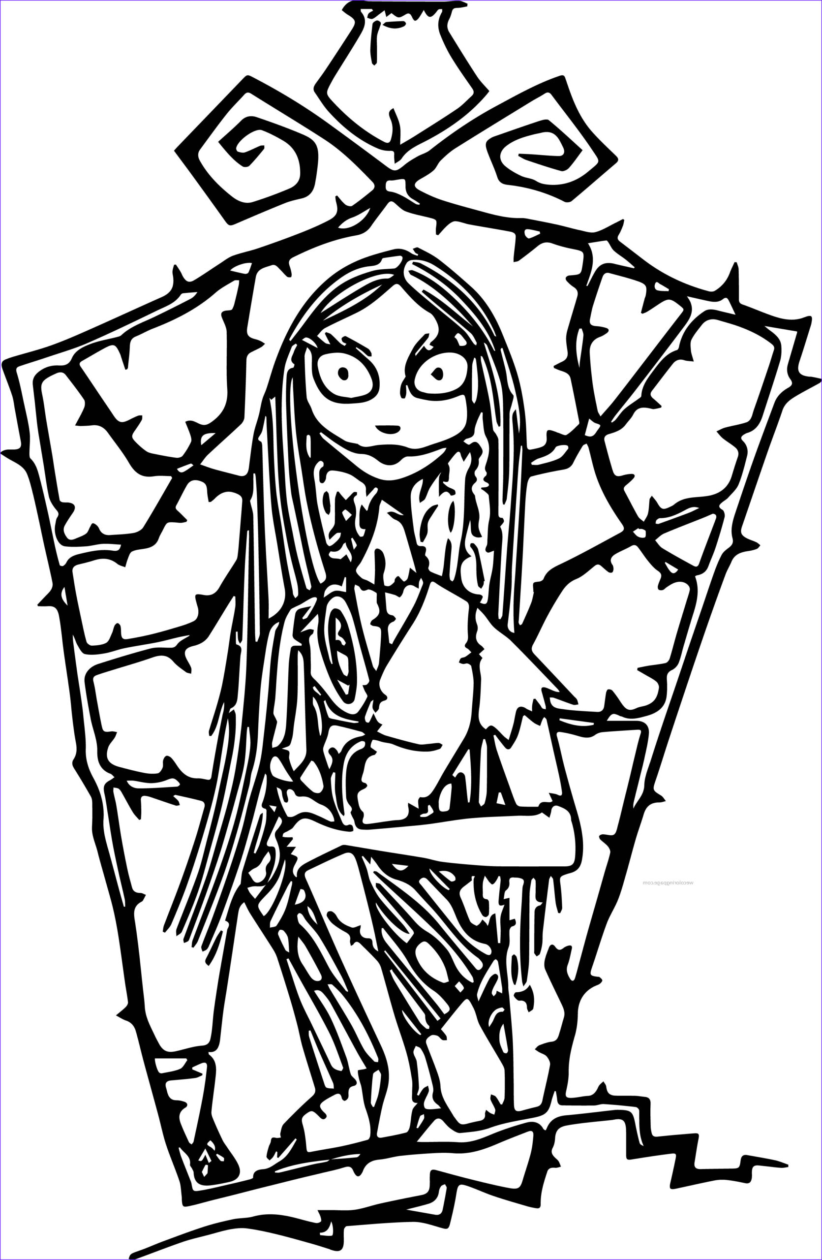 Nightmare before Christmas Coloring Book Cool Collection Free Printable Nightmare before Christmas Coloring Pages
