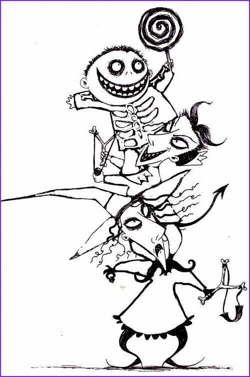 coloring nightmare before christmas