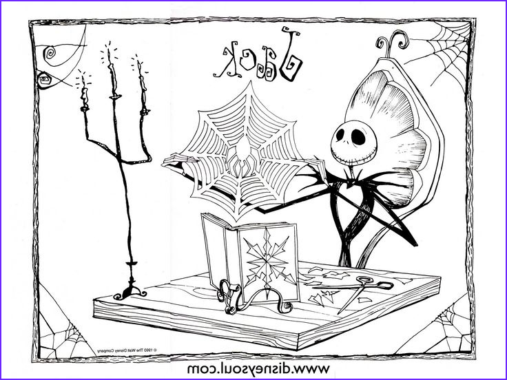Nightmare before Christmas Coloring Book Luxury Images Nightmare before Christmas Coloring Pages for Kids