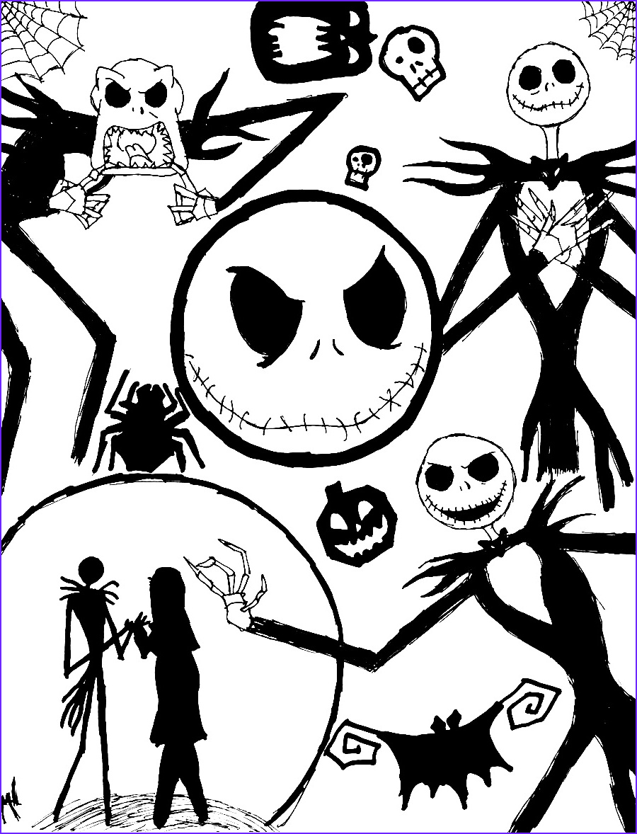 Nightmare before Christmas Coloring Book Luxury Photos Free Printable Nightmare before Christmas Coloring Pages