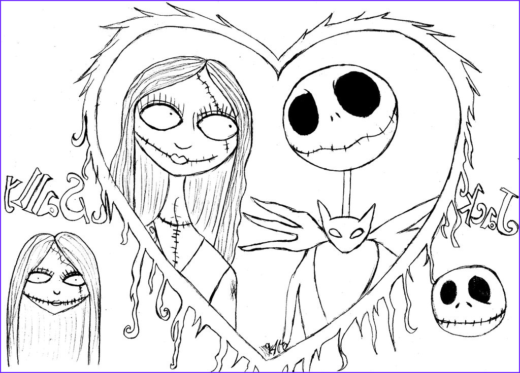 Nightmare before Christmas Coloring Pages Best Of Collection Free Printable Nightmare before Christmas Coloring Pages