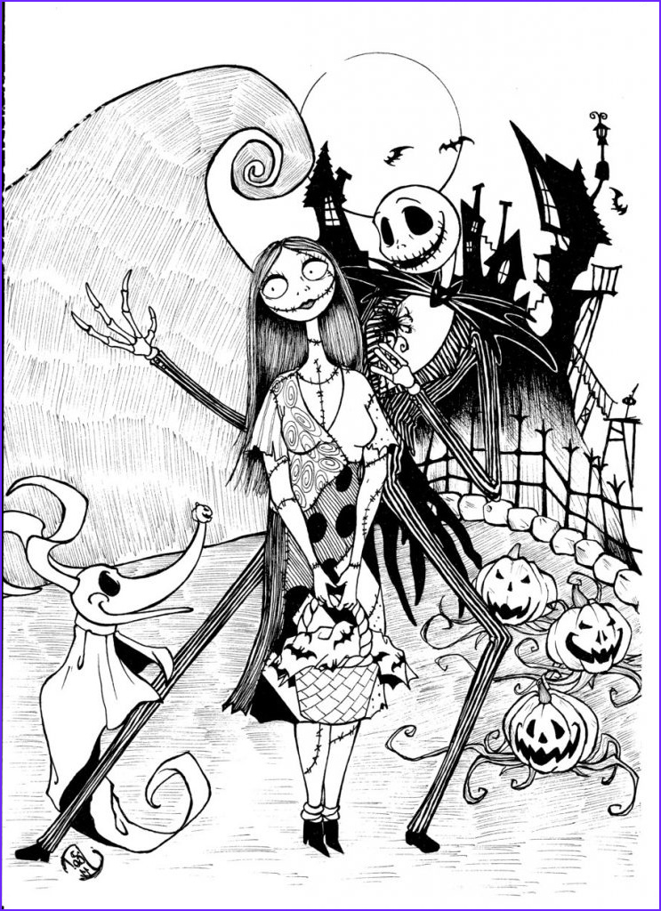 Nightmare before Christmas Coloring Pages Best Of Image Free Printable Nightmare before Christmas Coloring Pages