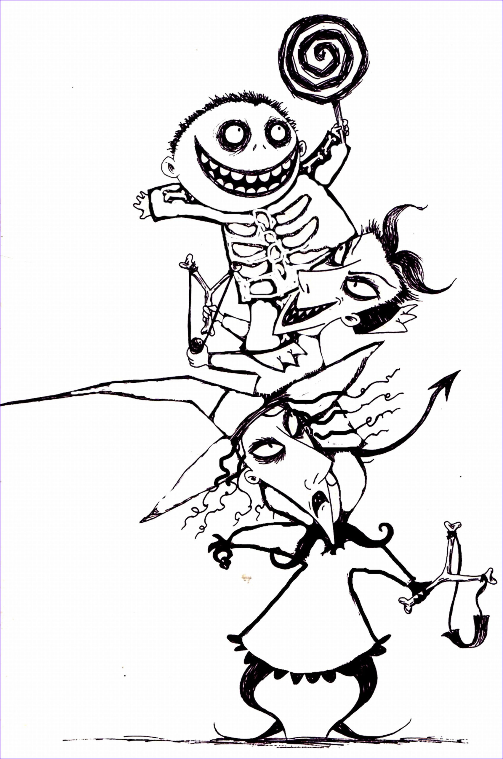 Nightmare before Christmas Coloring Pages Best Of Images Free Printable Nightmare before Christmas Coloring Pages