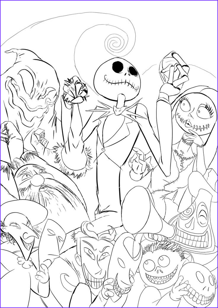 Nightmare before Christmas Coloring Pages Best Of Photos 46 Best Lineart Nightmare before Christmas Images On