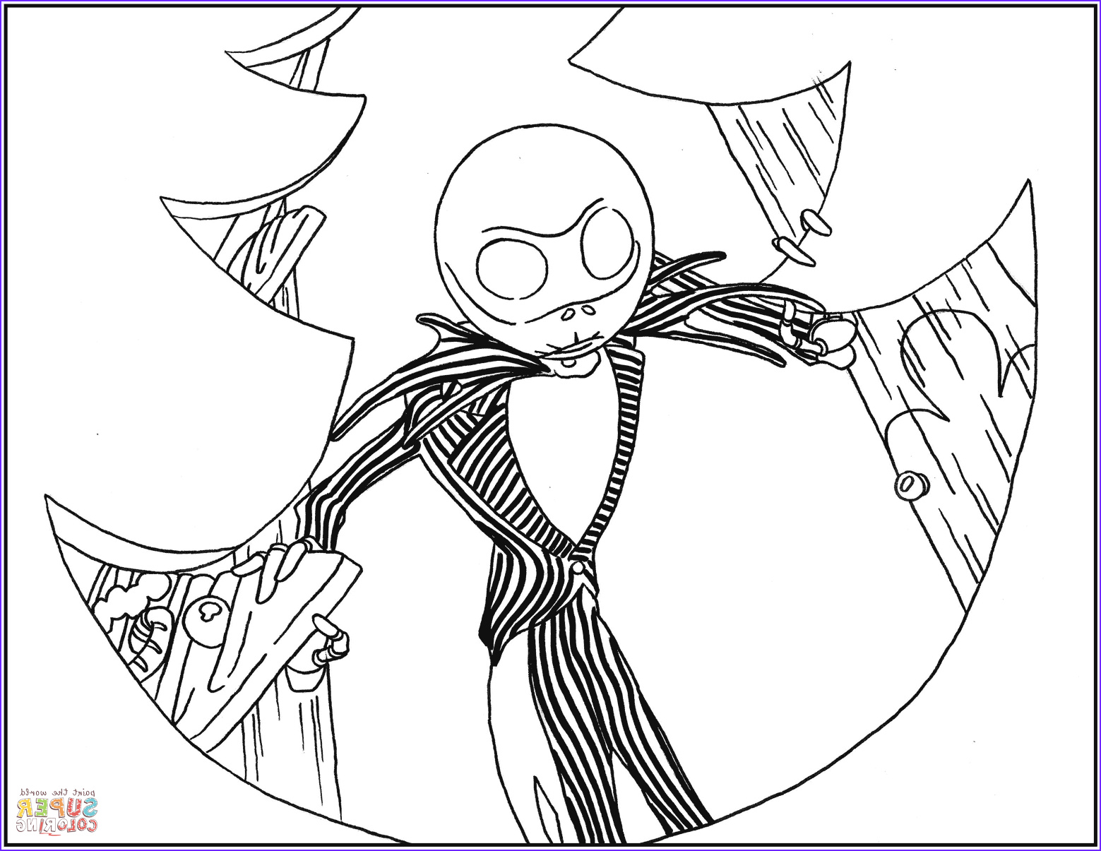 Nightmare before Christmas Coloring Pages Cool Photos Jack Skellington From Nightmare before Christmas Coloring