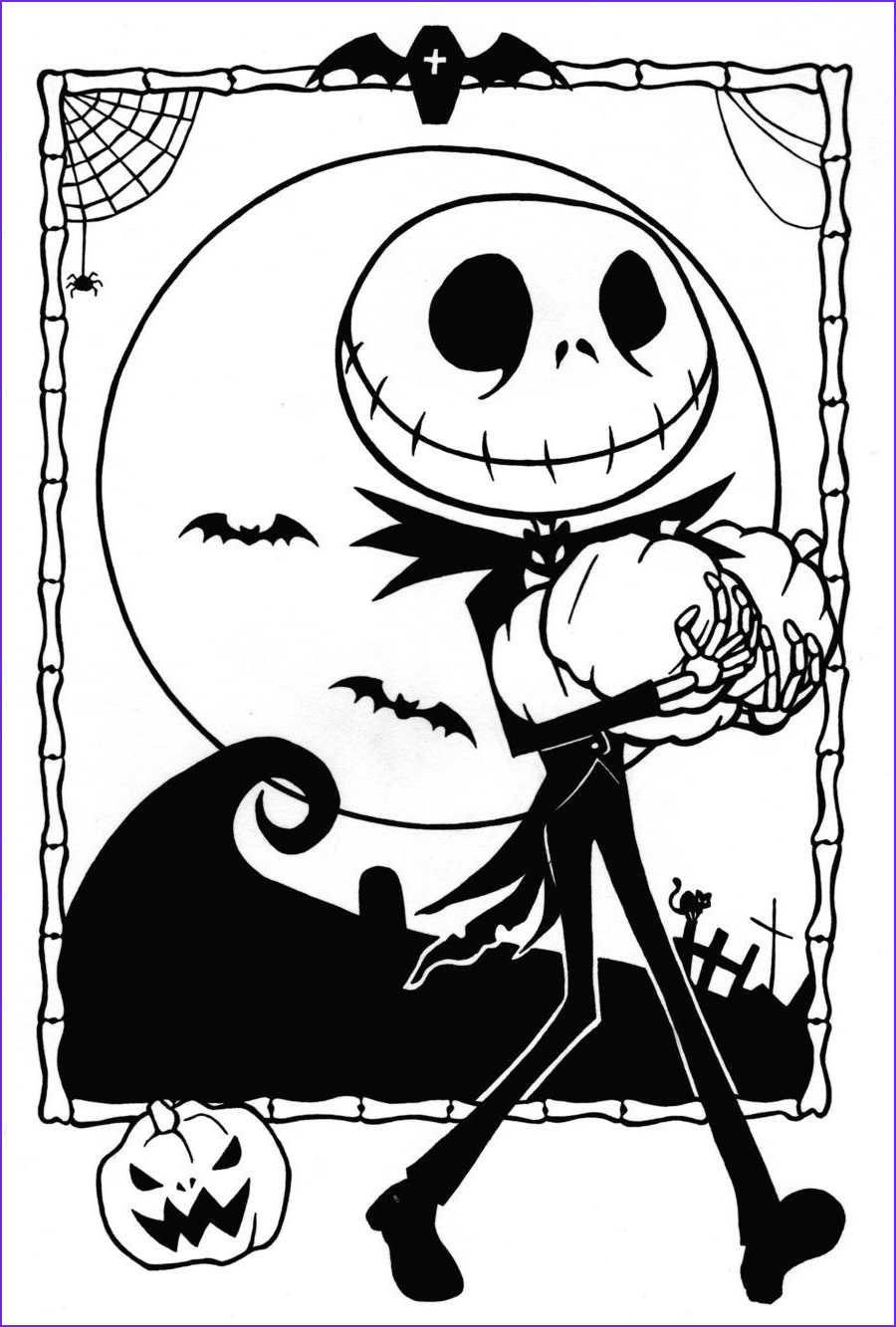 Nightmare before Christmas Coloring Pages Elegant Photos Nightmare before Christmas Jack and Sally Coloring Pages