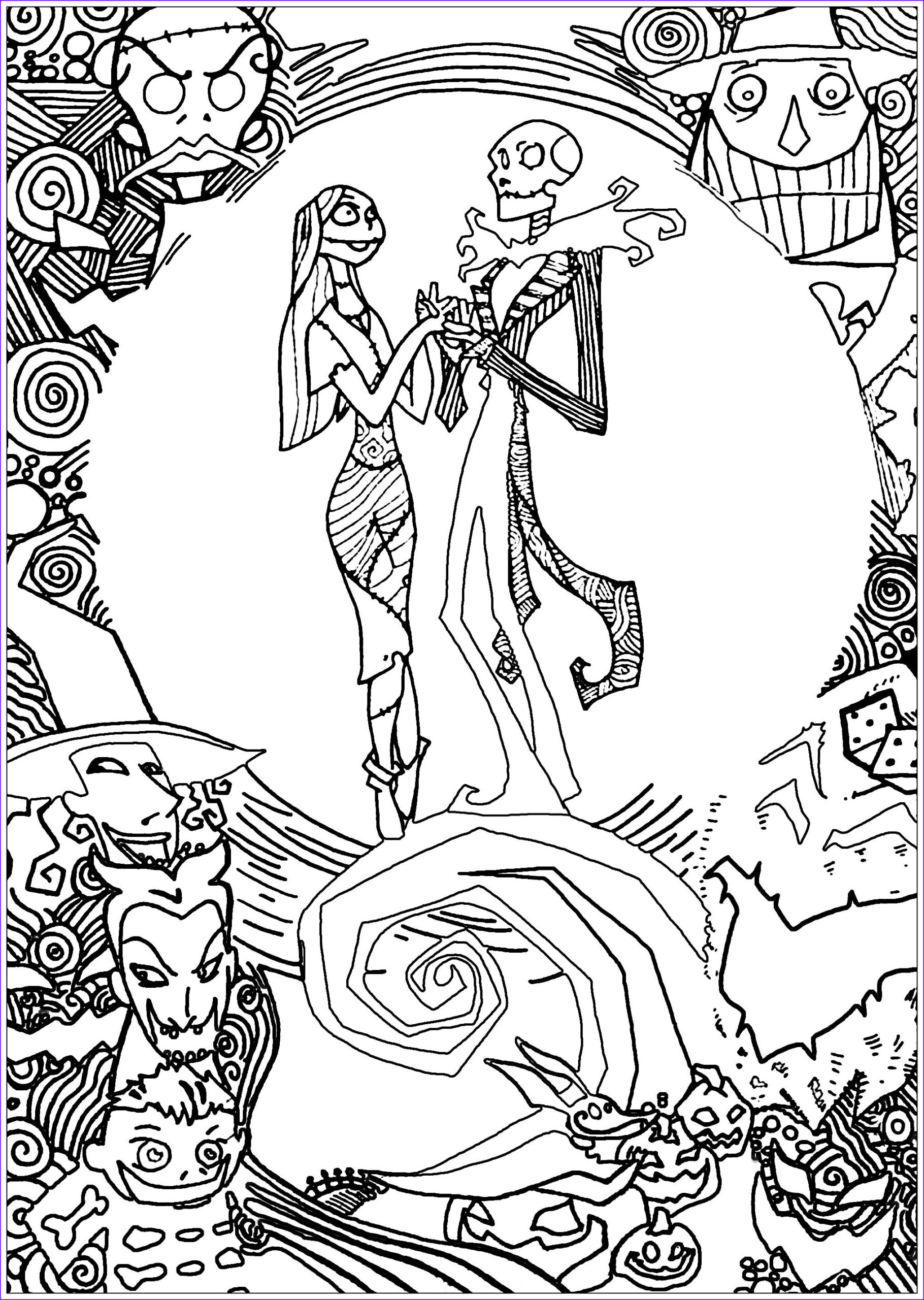 Nightmare before Christmas Coloring Pages Elegant Stock Nighmare before Christmas with Sully Christmas Adult