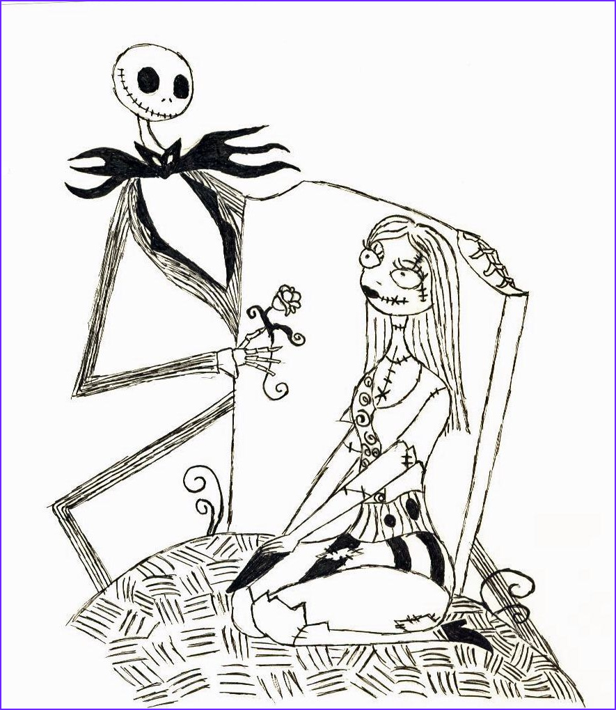 Nightmare before Christmas Coloring Pages Inspirational Photos Free Printable Nightmare before Christmas Coloring Pages