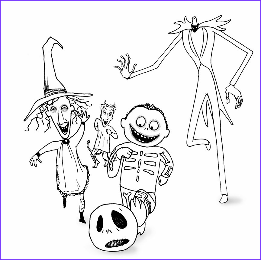 Nightmare before Christmas Coloring Pages Luxury Collection Free Printable Nightmare before Christmas Coloring Pages