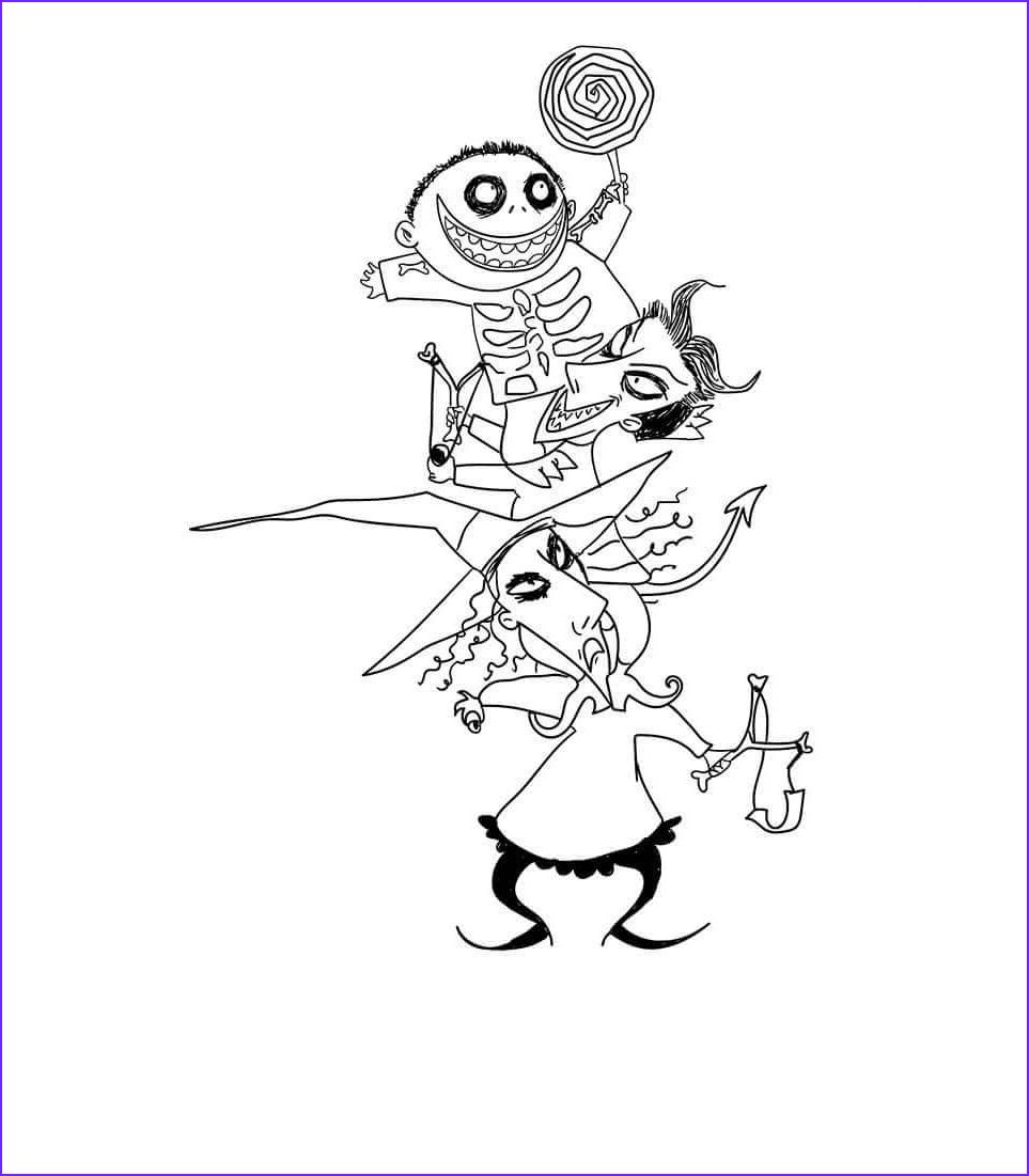 Nightmare before Christmas Coloring Pages New Collection 20 Free the Nightmare before Christmas Coloring Pages to Print