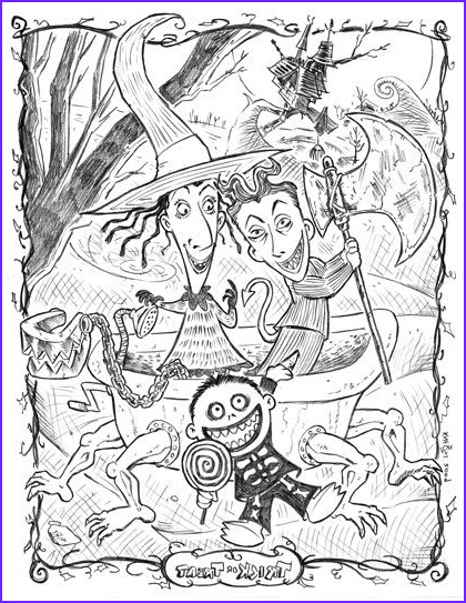 Nightmare before Christmas Coloring Pages New Images Nightmare before Christmas Coloring Page 400x500px