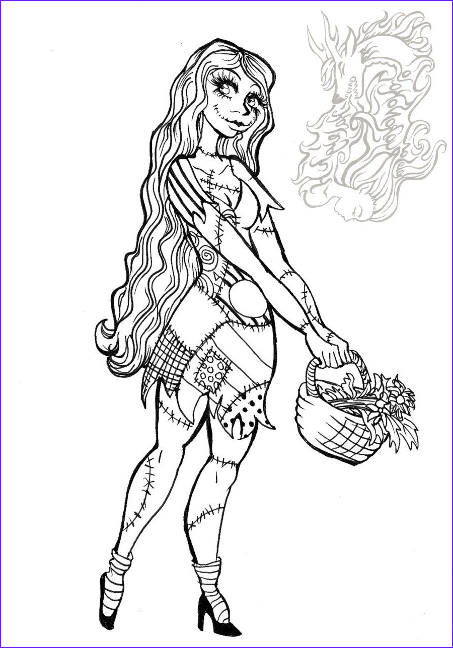 Nightmare before Christmas Coloring Pages Unique Collection Free Printable Nightmare before Christmas Coloring Pages