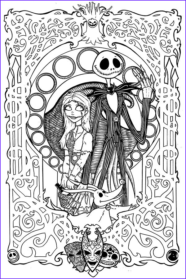 Nightmare before Christmas Coloring Pages Unique Image Free Printable Nightmare before Christmas Coloring Pages