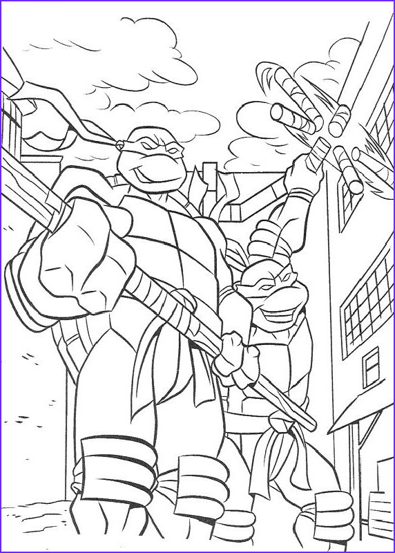 coloring tmnt