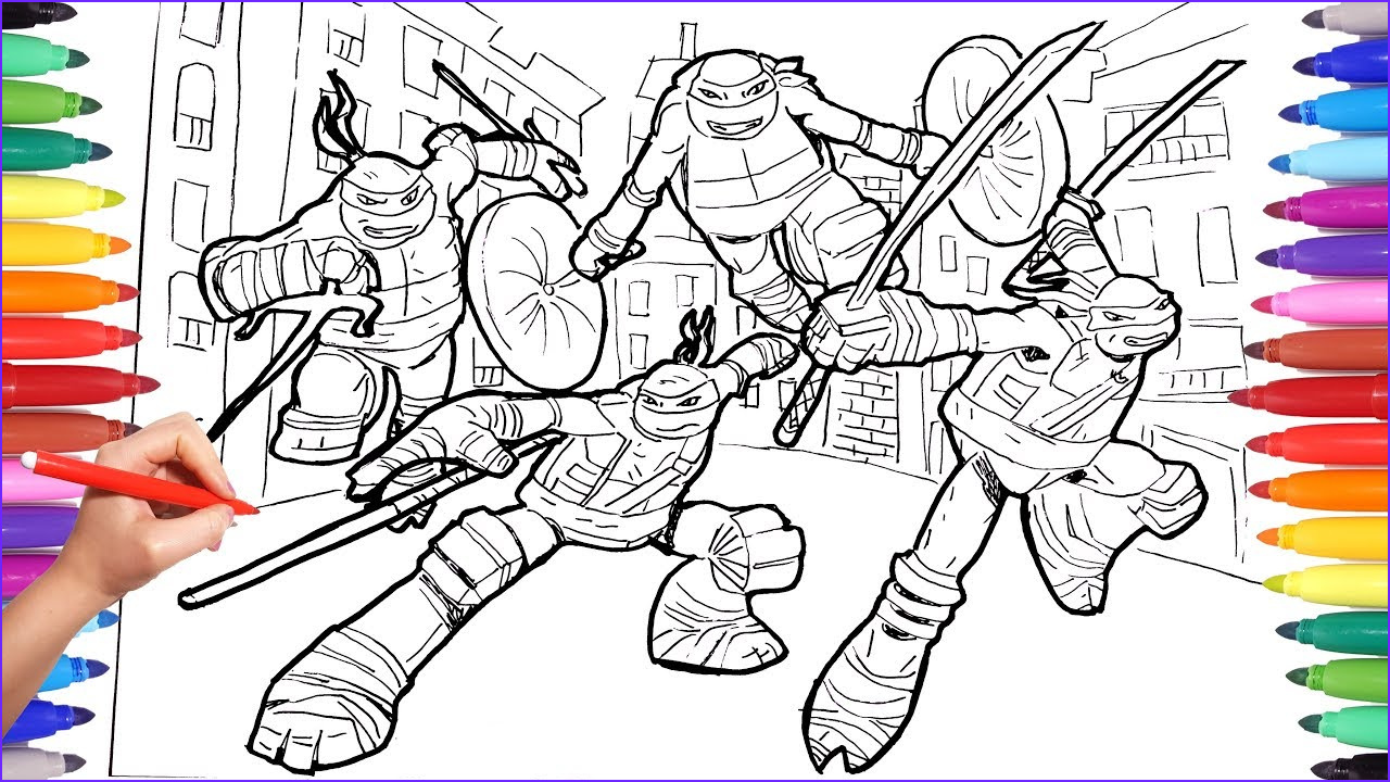 Ninja Turtle Coloring Pictures Awesome Photography Teenage Mutant Ninja Turtles Coloring Pages for Kids