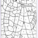 Number Coloring Beautiful Gallery Color By Number Coloring Pages