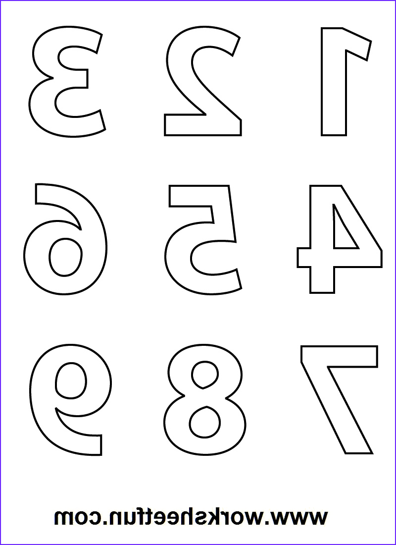 Number Coloring Cool Photos Numbers Colouring Sheets 09 D S Prek