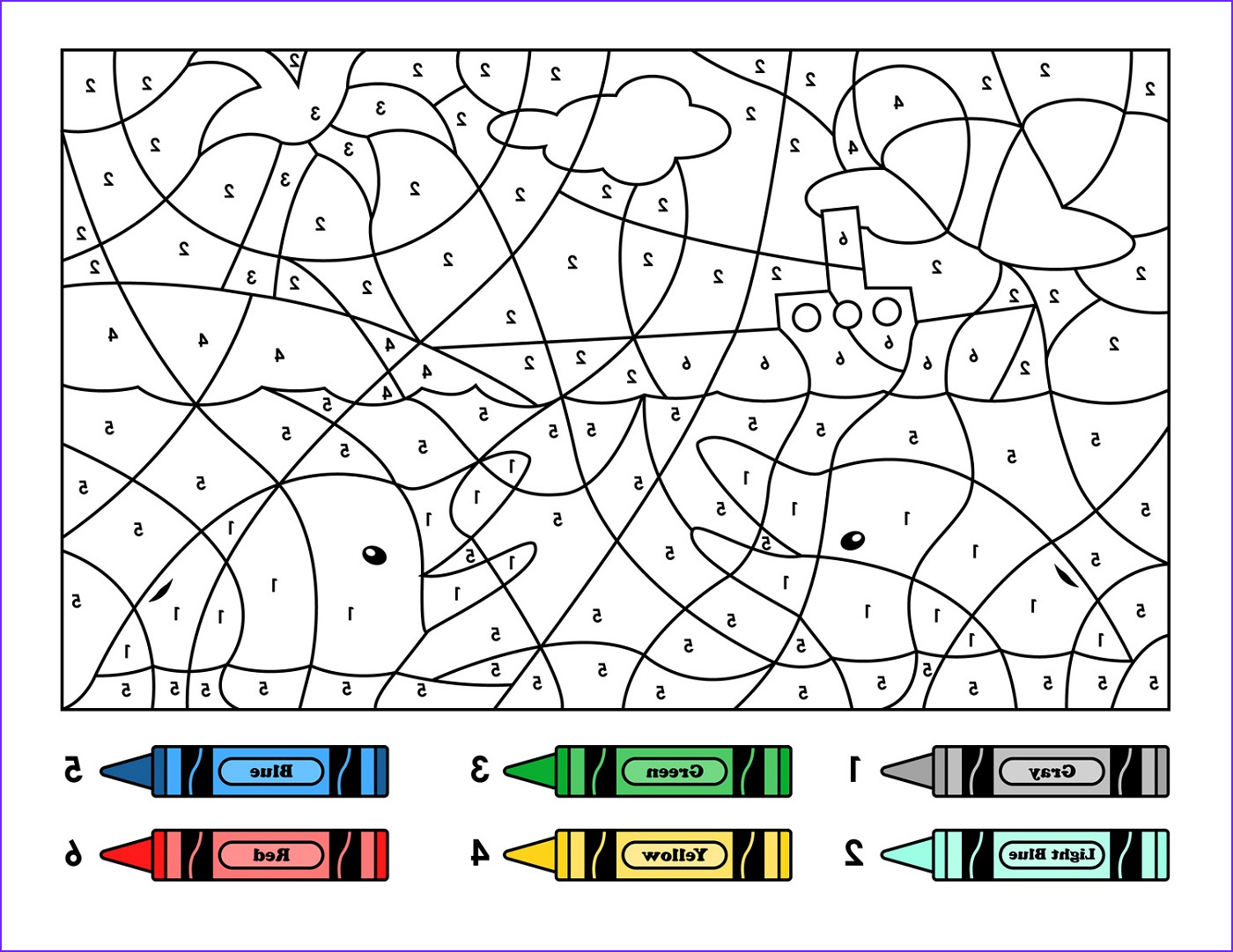 Number Coloring New Image Easy Color by Number for Preschool and Kindergarten
