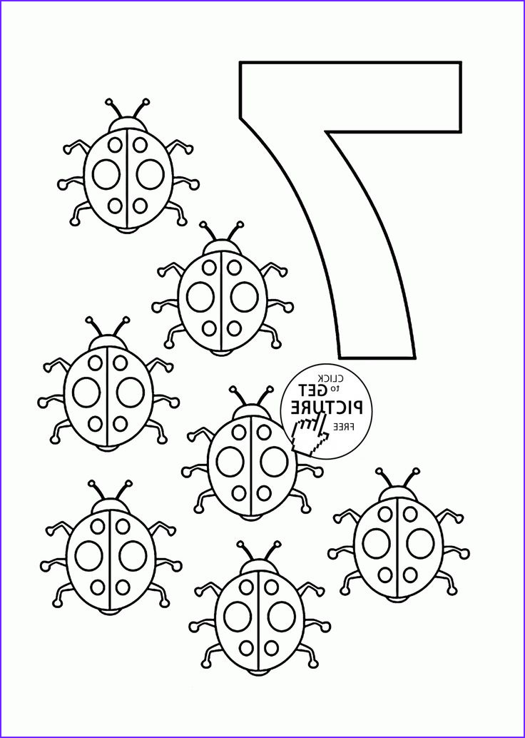 Number Coloring New Photos Number 7 Coloring Pages for Kids Counting Sheets