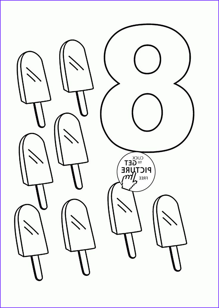 Number Coloring Pages for toddlers Elegant Photos Number 8 Coloring Pages for Kids Counting Sheets