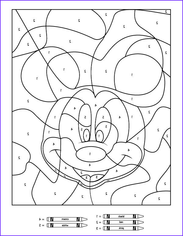Number Coloring Pages for toddlers Elegant Photos Your Children Will Love these Free Disney Color by Number