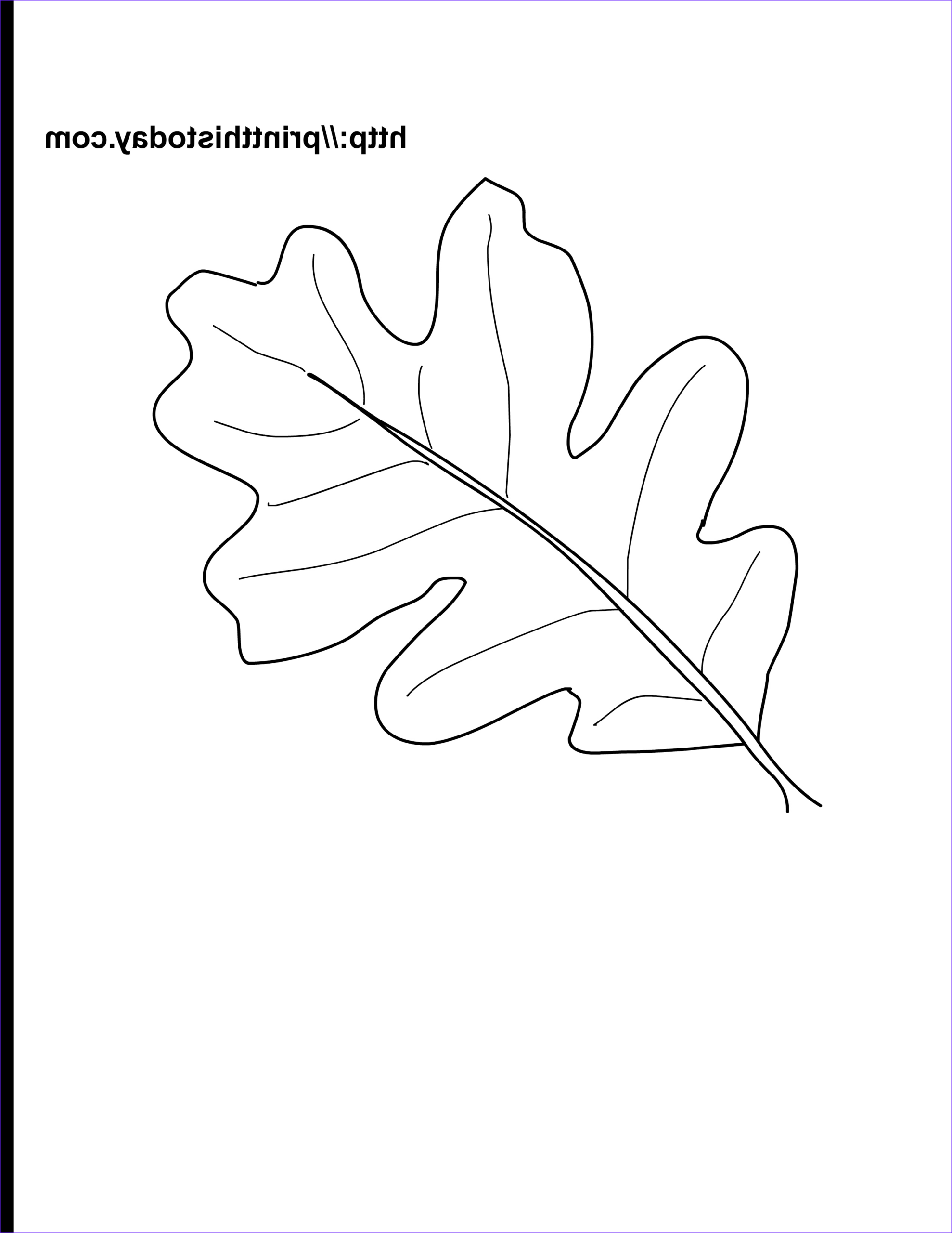 Oak Leaf Coloring Page Cool Gallery Free Printable Autumn Fall Coloring Pages
