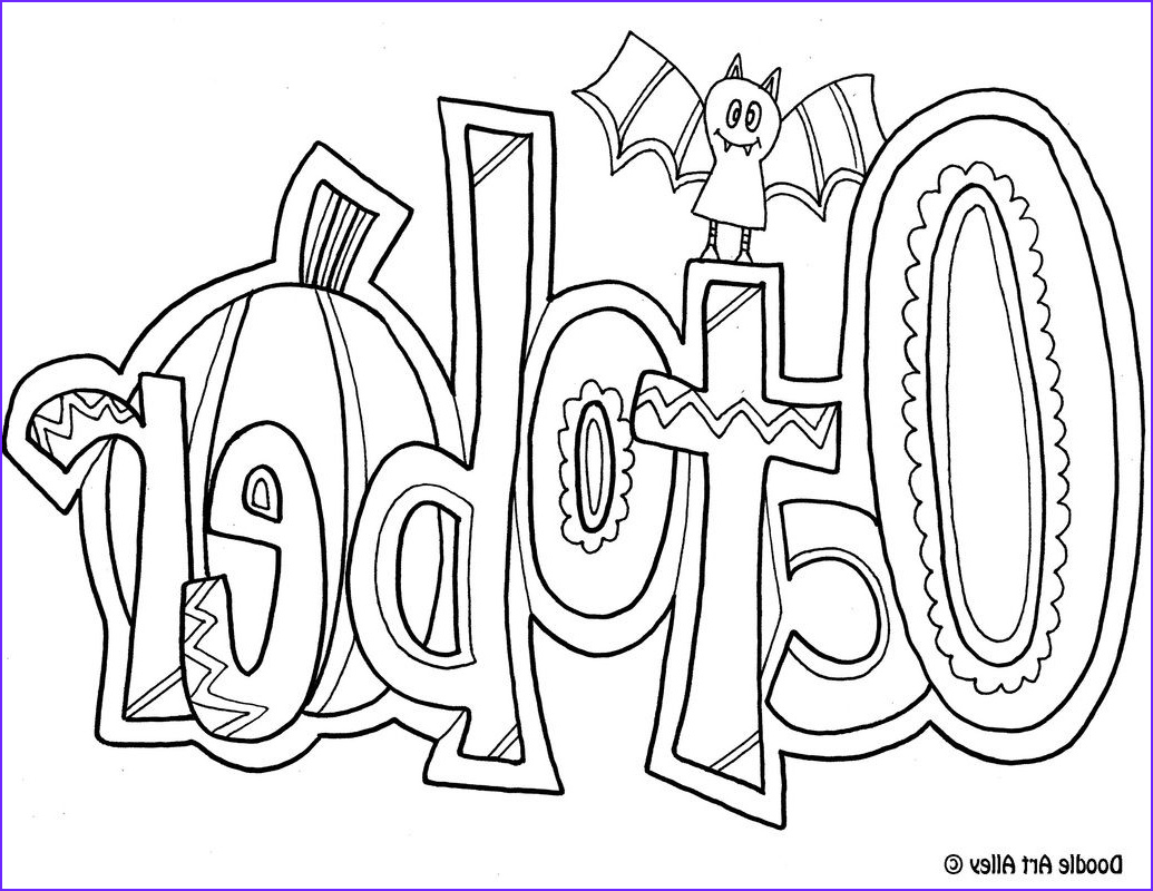 october coloring pages for preschool