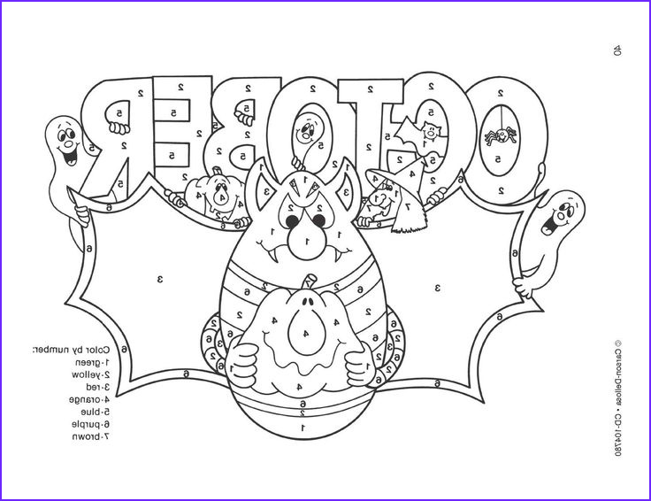 October Coloring Pages Cool Photos October Color by Numbers