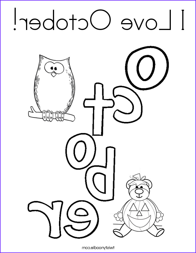 i love october 10 coloring page