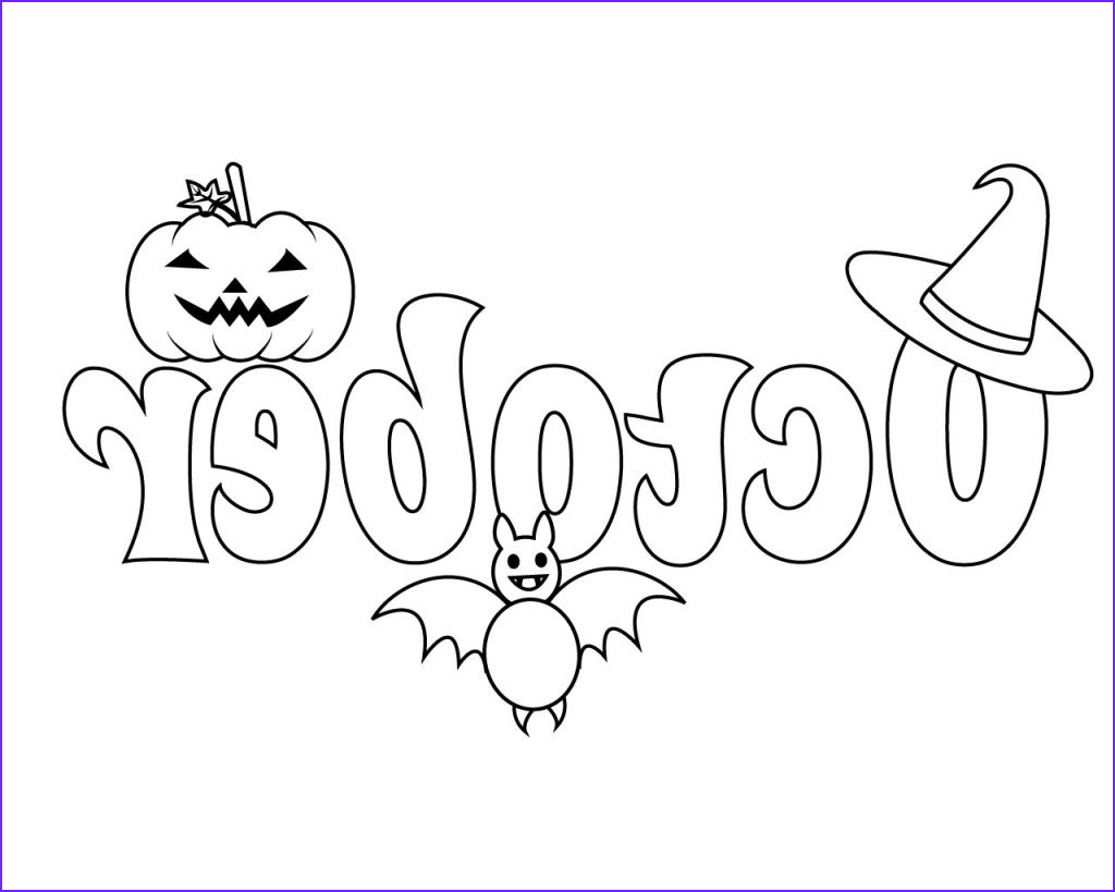 top october coloring pages