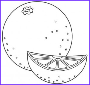 Orange Coloring Page Beautiful Stock Fruits and Ve Ables Coloring Pages