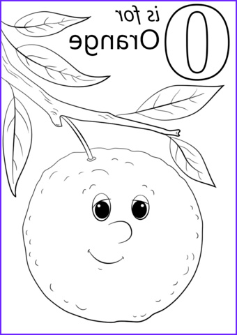 Orange Coloring Page Elegant Collection Fruits Coloring Pages