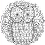 Owl Adult Coloring Pages Beautiful Image Owl Coloring Pages For Adults Free Detailed Owl Coloring