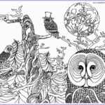 """Owl Adult Coloring Pages Luxury Image Icolor """"owls"""" On Pinterest"""