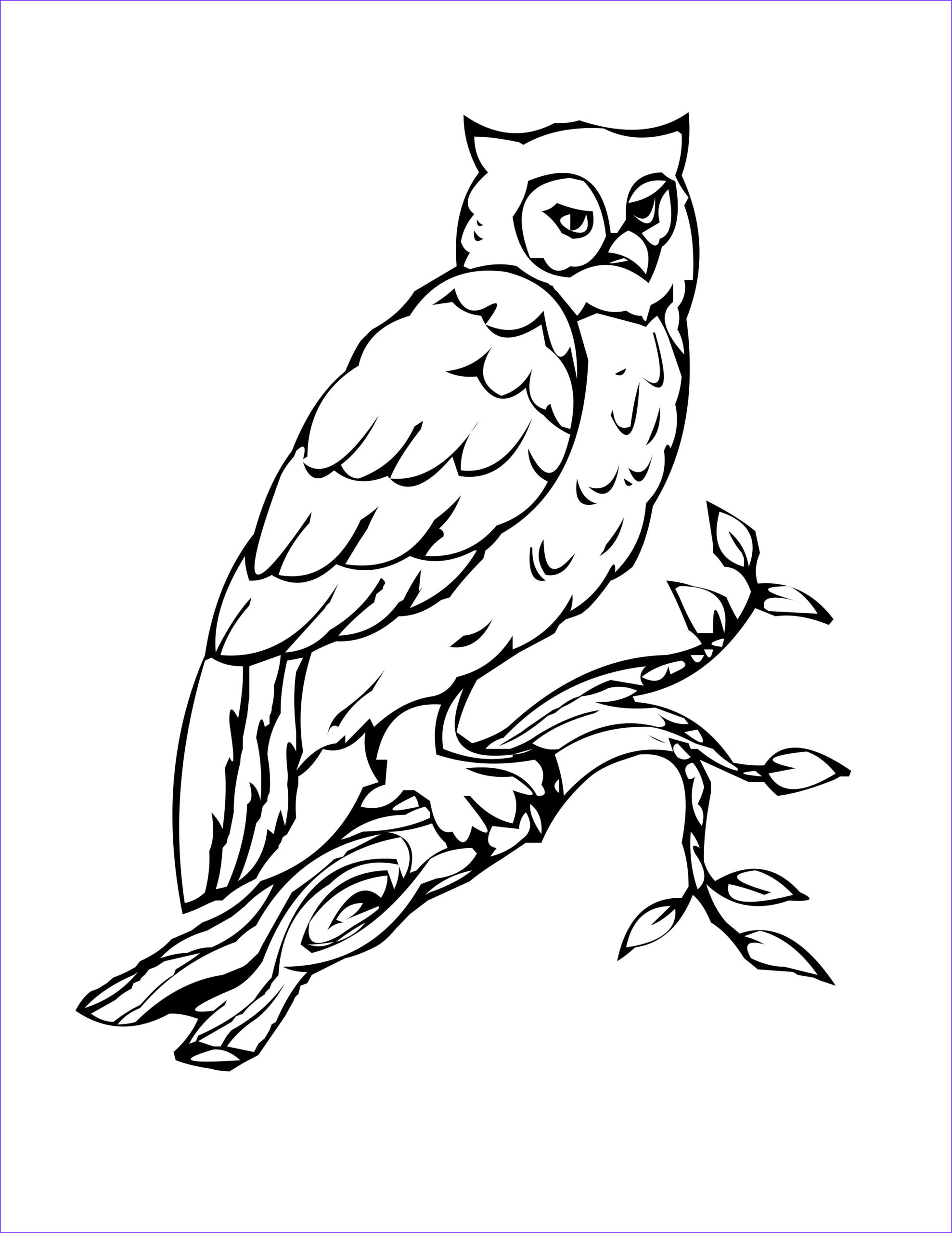 Owl Coloring Awesome Photos Bird Coloring Pages
