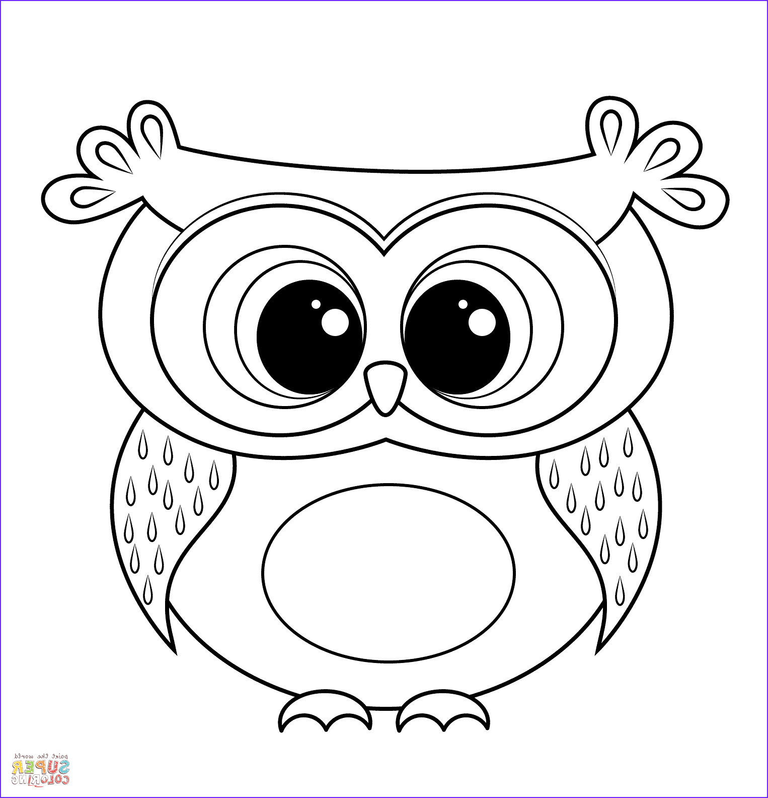 Owl Coloring Awesome Photos Cartoon Owl Coloring Page