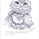 Owl Coloring Book Beautiful Image Being Up With The Owls Hattifant