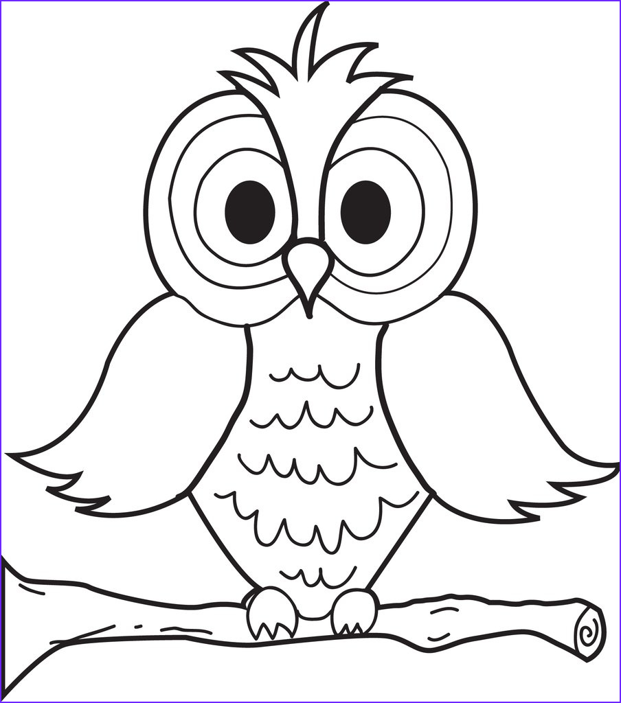 cartoon owl coloring page a4370