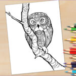 Owl Coloring Books For Adults New Photography Adult Coloring Book Page Owl In A Tree Coloring Page For