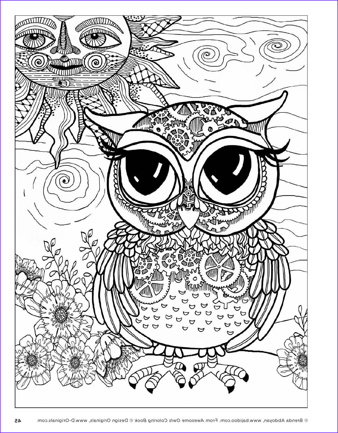 Owl Coloring Books for Adults Unique Image Awesome Owls Coloring Book by Fox Chapel Publishing