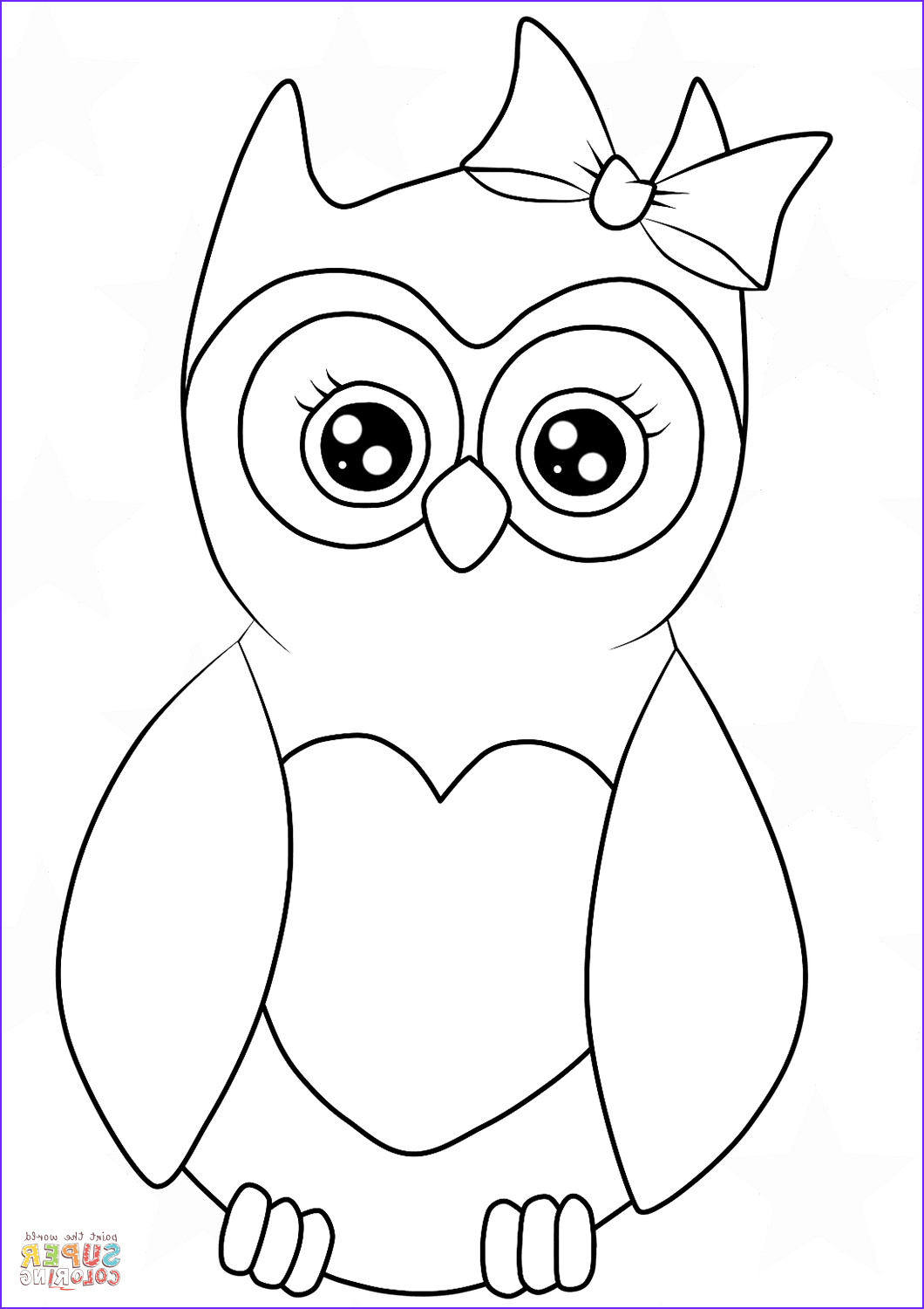 Owl Coloring Elegant Image Cutest Cartoon Owl Coloring Page