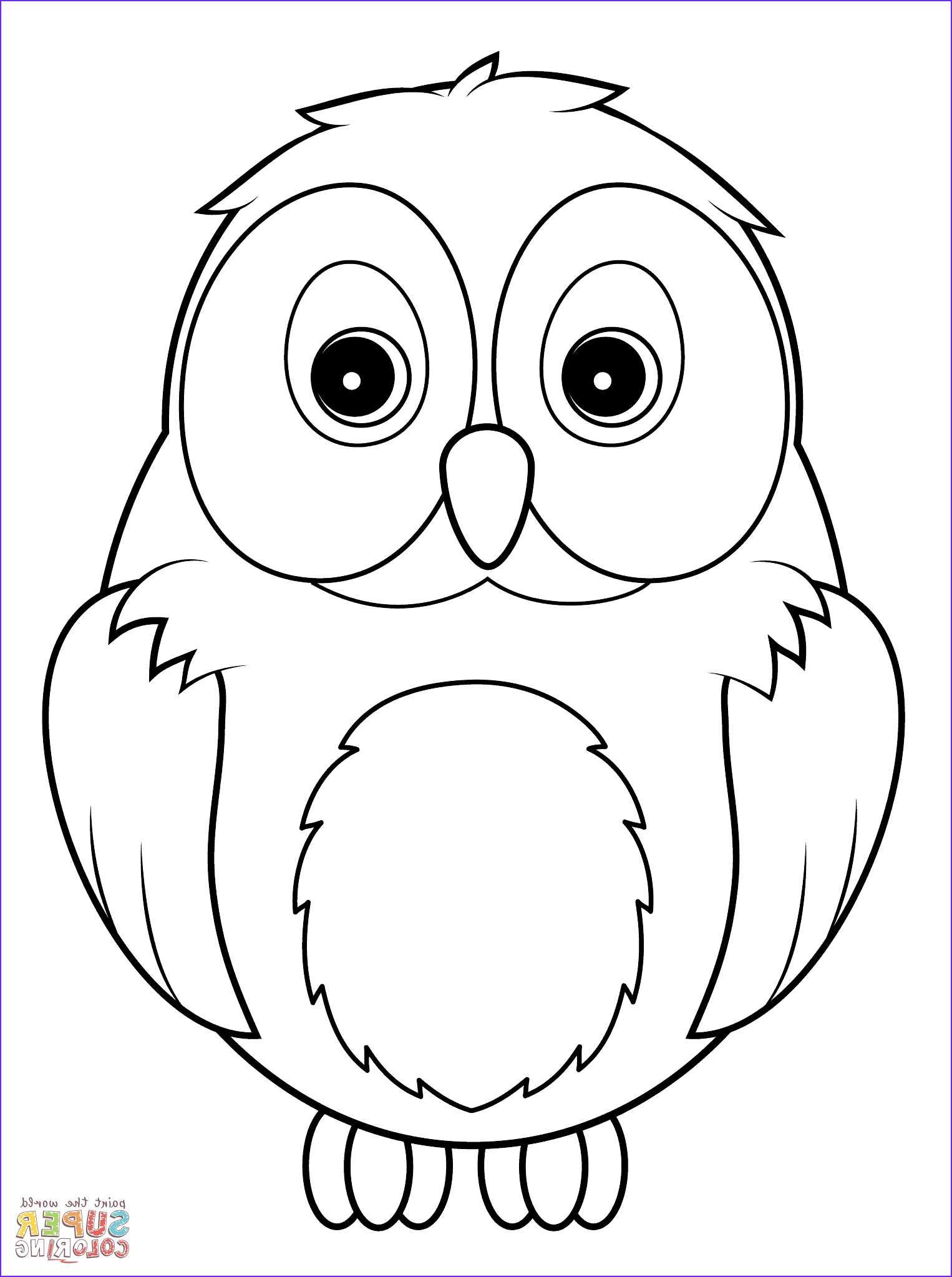 Owl Coloring Luxury Image Cute Owl Coloring Page