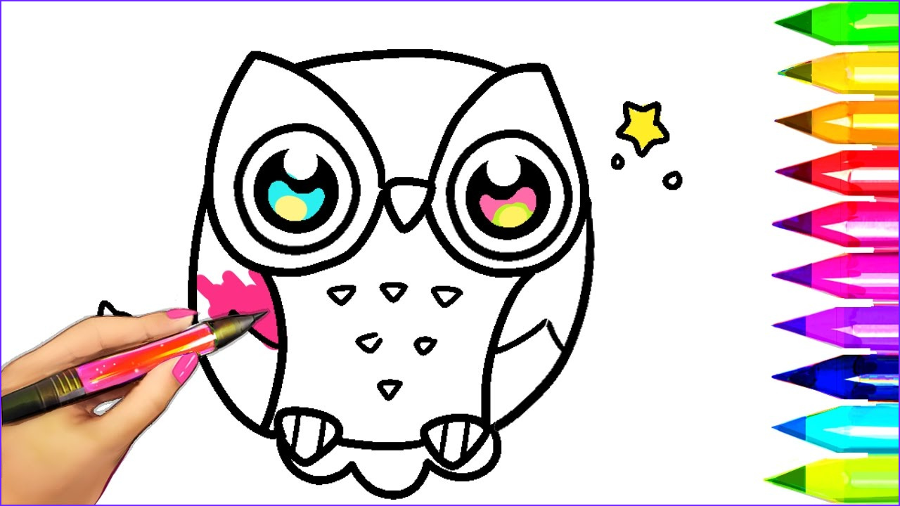 Owl Coloring Luxury Images How to Draw and Color Owl Coloring Pages for Kids to Learn