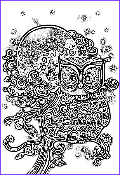 Owl Coloring Pages for Adults Beautiful Image Owl Coloring Page Coloring Design Pages
