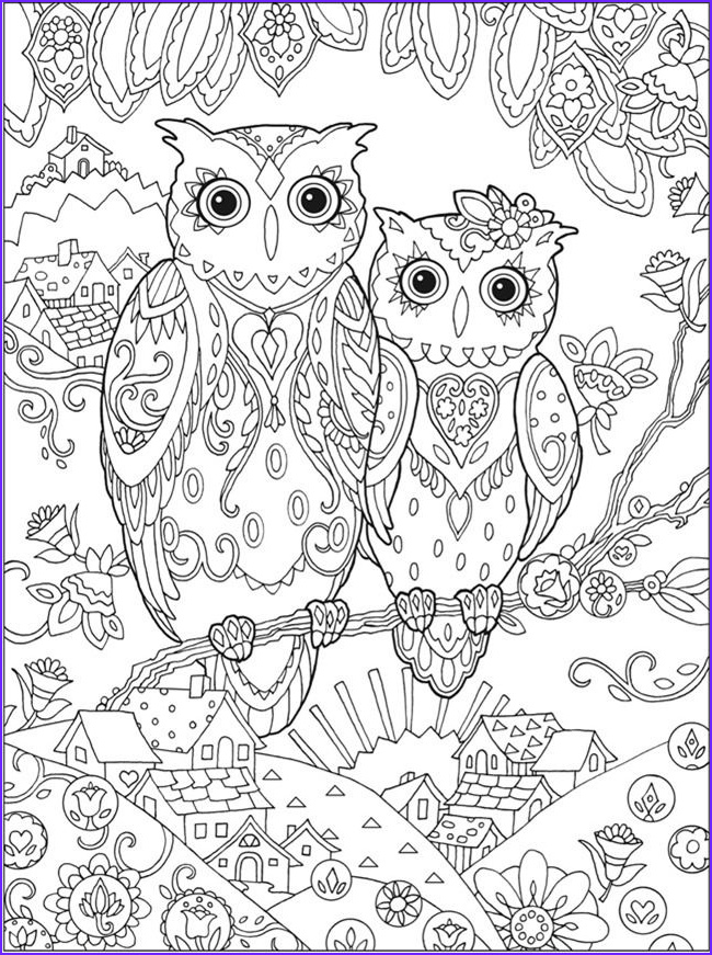 Owl Coloring Pages for Adults Inspirational Collection Printable Coloring Pages for Adults 15 Free Designs