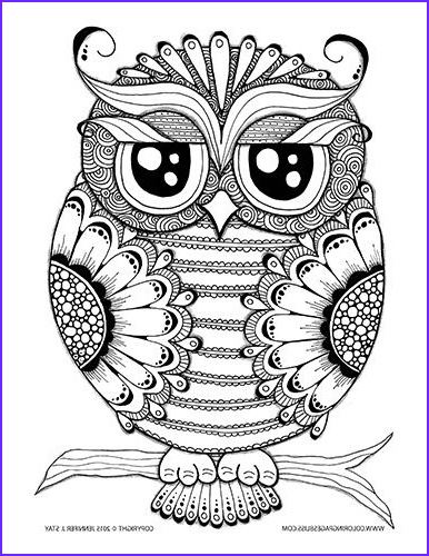 Owl Coloring Pages for Adults Luxury Images Owl Coloring Page Coloring Pages for Adults and Grown Ups